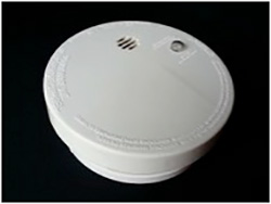 fire safety smoke detector with battery